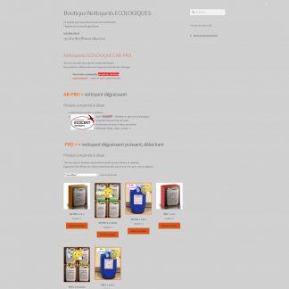 CVPG boutique en ligne sous Wordpress , nettoyants PRO