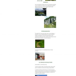 Site vitrine Wordpress Trésors en Bigorre