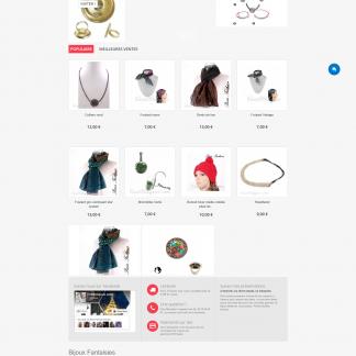 Boutique créée sous prestashop - Site de bijoux fantaisie Tinette bijoux
