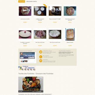 Site créé sous prestashop - Boutique en ligne Artisanat Pâtisseries