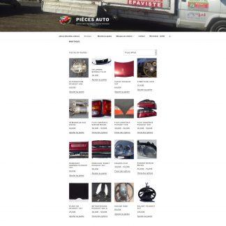 Site sous Wordpress boutique pièces détachées - Epaviste Laffont